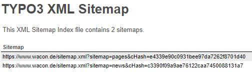 Automatisch Generierte Ubersicht Der TYPO3 Sitemaps